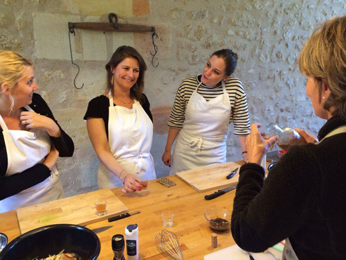 cooking class in a chateau