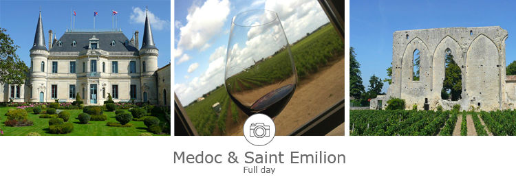 Day wine tour in Medoc and Saint Emilion