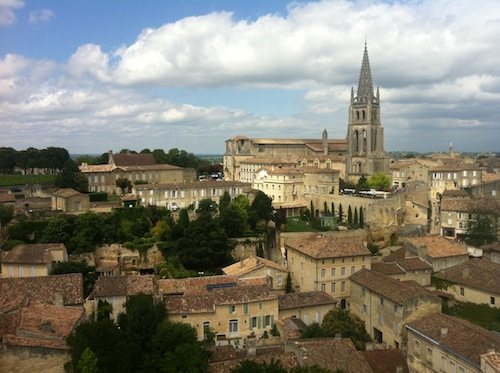 View on Saint Emilion vineyard