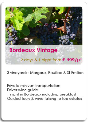 2 Days travelling Medoc and St Emilion vineyards