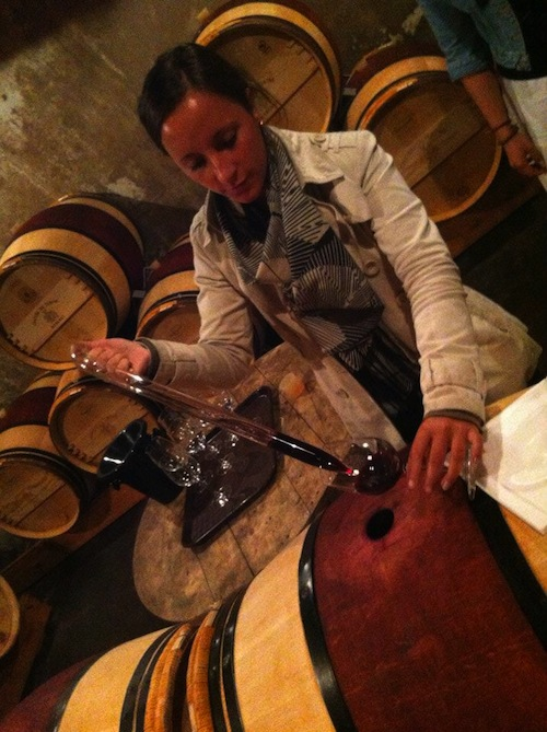 Wine tasting direct from the barrel
